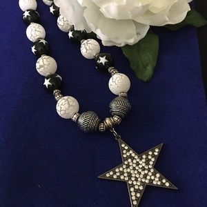 """STARRY NIGHT"" One of a kind Necklace. Chunky. 20"""